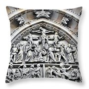 Crucified Christ - Saint Vitus Cathedral Prague Castle Throw Pillow by Christine Till