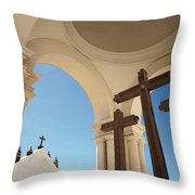 Crucifix At Basilica Of Our Lady Of Throw Pillow