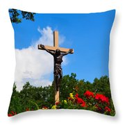 Crucifix In Indian River Throw Pillow