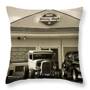 Cruise Night At Johnny Ray's Throw Pillow by Dennis Hedberg