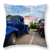 Cruise Night At The Diner Throw Pillow