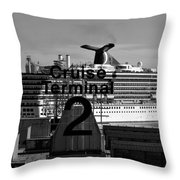 Cruise Terminal Two Throw Pillow