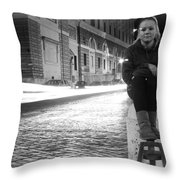 Cruising Cars Throw Pillow