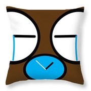 Crying Monkey In Clock Faces Throw Pillow