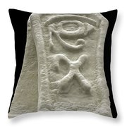 Cryptic Egypt Snow Throw Pillow