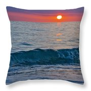 Crystal Blue Waters At Sunset In Treasure Island Florida 3 Throw Pillow