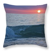 Crystal Blue Waters At Sunset In Treasure Island Florida 4 Throw Pillow