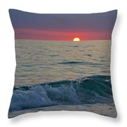 Crystal Blue Waters At Sunset In Treasure Island Florida 5 Throw Pillow