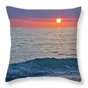 Crystal Blue Waters At Sunset In Treasure Island Florida Throw Pillow