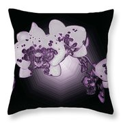 Crystal Butterfly Orchid Throw Pillow