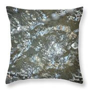 Crystal Clear Bubbles Throw Pillow