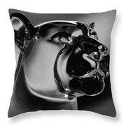 Crystal Cougar Throw Pillow