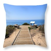 Crystal Cove State Park Ocean Overlook Throw Pillow