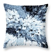 Crystal Flowers Throw Pillow