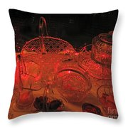 Crystal In Red  Throw Pillow
