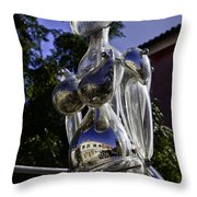 Crystal Lady Throw Pillow