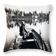 Crystal Lake California - C 1865 Throw Pillow