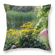 Crystal Lake State Park In Barton Vermont Throw Pillow