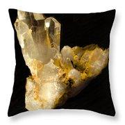 Crystal On Black Throw Pillow