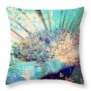Crystal Pastel Blooms Throw Pillow