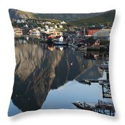 Crystal Waters At Reine Village Throw Pillow