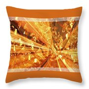 Crystallized - Digital Art Abstract Throw Pillow