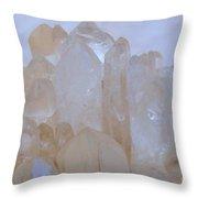 Crystals Au Natural Throw Pillow