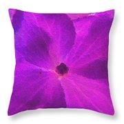 Crystelized Hydrangea Bloom Art Throw Pillow