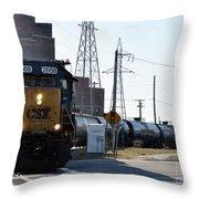 Csx Train Throw Pillow