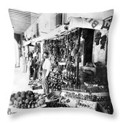 Cuba Fruit Vendor C1910 Throw Pillow