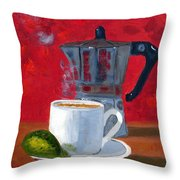 Cuban Coffee And Lime Red R62012 Throw Pillow