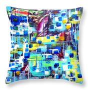 Cubic Animation Throw Pillow