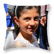 Cuenca Kids 131 Throw Pillow by Al Bourassa