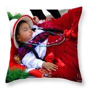 Cuenca Kids 175 Throw Pillow by Al Bourassa