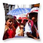 Cuenca Kids 187 Throw Pillow by Al Bourassa