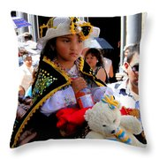 Cuenca Kids 188 Throw Pillow by Al Bourassa