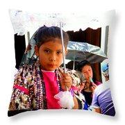 Cuenca Kids 190 Throw Pillow by Al Bourassa