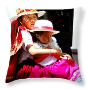 Cuenca Kids 195 Throw Pillow by Al Bourassa