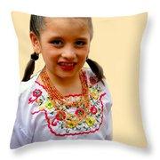 Cuenca Kids 203 Throw Pillow by Al Bourassa