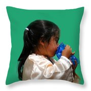 Cuenca Kids 207 Throw Pillow by Al Bourassa