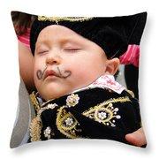 Cuenca Kids 21 Throw Pillow by Al Bourassa