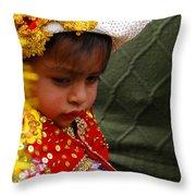 Cuenca Kids 35 Throw Pillow by Al Bourassa