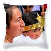 Cuenca Kids 44 Throw Pillow by Al Bourassa