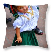 Cuenca Kids 55 Throw Pillow by Al Bourassa