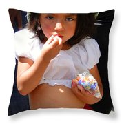 Cuenca Kids 60 Throw Pillow by Al Bourassa
