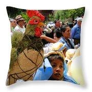 Cuenca Kids 67 Throw Pillow by Al Bourassa
