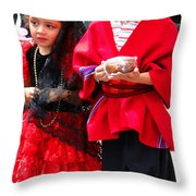 Cuenca Kids 78 Throw Pillow by Al Bourassa