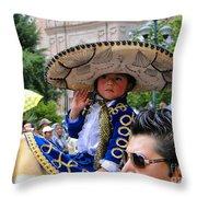 Cuenca Kids 82 Throw Pillow by Al Bourassa