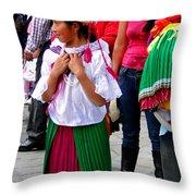 Cuenca Kids 92 Throw Pillow by Al Bourassa