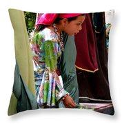 Cuenca Kids 93 Throw Pillow by Al Bourassa